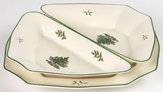 RP: Spode Christmas Tree Party Dishes and Tray