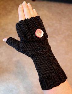 Commuter Fingerless Gloves, Free knitting pattern.