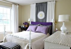 notice pillow cases and seat cushion match.  this is th elook I'm going for in girl's room.