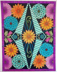 Coloured By Karen Oderkirk. Using Prismacolors and markers. Artist: C. L. Aldridge.