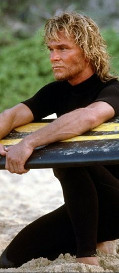 POINT BREAK (1991) is a Cinema Trash Classic with Patrick Swayze playing a surfer who is leader of bank robbers who wear ex-presidents masks to comitt their crimes. Keenau Reeves plays a undercover agent  sent to the beach to undercover to get information for the FBI. Look for Gary Busey