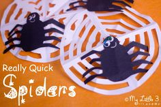 HALLOWEEN SPIDERS AND COBWEBS - Homemade Halloween decorations that are so super quick to make, you can decorate the whole house before you have time to say BOO! Great for Itsy Bitsy Spider play too. Spider Crafts, Homemade Halloween Decorations, Theme Halloween, Halloween Crafts For Kids, Halloween Activities, Holiday Activities, Holidays Halloween, Fall Crafts, Spooky Halloween