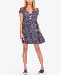 Denim & Supply Ralph Lauren Printed Button-Front Dress