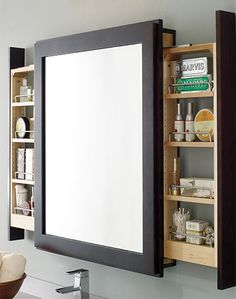 Mirror_Storgage Nooks and Crannies. De clutter your home to get it looking fabulous