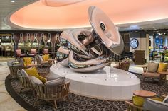 Artwork on the Anthem of the Seas cruise ship