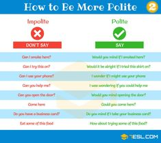 List of useful expressions for speaking polite English. Learn these common phrases to improve your English communication skills. English Phrases, English Idioms, English Lessons, English Vocabulary, English Grammar, English Tips, English Communication Skills, English Writing Skills, Writing Tips