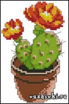 Cactus Cross Stitch, Cross Stitch Tree, Mini Cross Stitch, Cross Stitch Needles, Simple Cross Stitch, Cross Stitch Flowers, Cross Stitch Charts, Cross Stitching, Cross Stitch Embroidery
