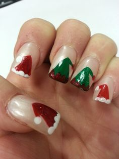 I was thinking to maybe do it with all fingers elf hats but the thumb a santa hat