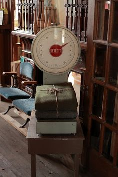 ARMY BLANKETS and vintage scales!