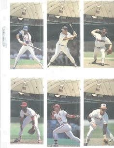 Leaf Donruss 1985 All Star Game Stand Up Lot Of 12 Baseball Trading Cards Vtg  #various