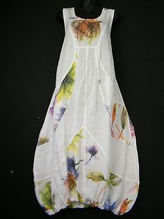 PRETTY-PLUS-SIZE-100-LINEN-LAGEN-LOOK-DRESS-WITH-FRONT-POCKETS-TO-FIT-SZ-16-22