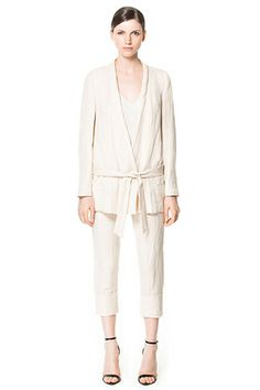 Introducing...Andrea Linett's Things-You-Need-Right-NOW List #refinery29     zara: long linen jacket perfect for summer!