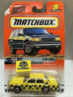 Matchbox Cars - LTD Taxi This item is NOT in Mint Condition and is in no way…