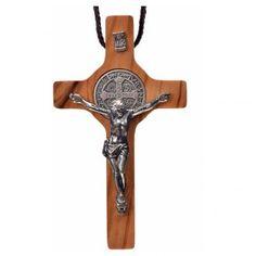 Croce San Benedetto 8x4 cm argento 925 croce olivo con corda | vendita online su…