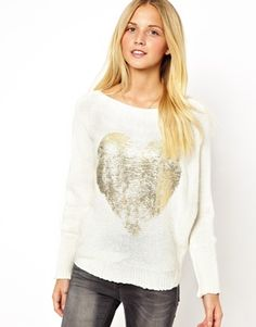 WAL G Heart Front Knit Top