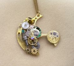 Steampunk Doctor Who Time Machine necklace