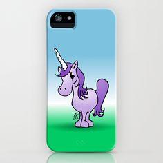 Purple Unicorn iPhone & iPod Case by Cardvibes - $35.00 #Cardvibes #Tekenaartje #Society6