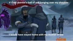 The Legend of Korra: this was too funny. The world is about to end yet bryke still fit in some jokes lol