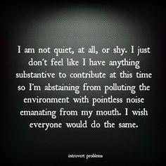 100% me.