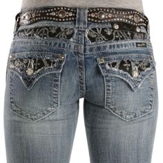 Miss Me Jeans #Miss_Me_Jeans #fashion #blue_jeans #love MIss Me Jeans - Embroidered Inset Pocket Slim Fit