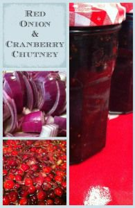 A simple and delicious red onion and cranberry chutney recipe which goes brilliantly with cheese or Christmas ham and makes a great homemade Christmas gift. Cranberry Chutney Recipe, Cranberry Recipes, Chutney Recipes, Jam Recipes, Canning Recipes, Sauce Recipes, Delicious Recipes, Tasty, Marmalade