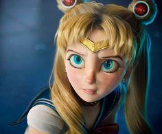 Sailor Moons, Sailor Moon Girls, Arte Sailor Moon, Sailor Moon Crystal, Sailor Moon Usagi, 3d Model Character, Character Design, Evelynn League Of Legends, Real Anime