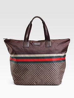 Gucci -- Nylon Diamante Tote -- Beach essentials all in one very fashionable bag. :) $790.00
