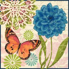Butterfly Ballad-Orange by Jennifer Brinley   Ruth Levison Design