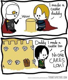 loki comics | funny-Loki-vs-Thor-father-comic.  800,000 fan girls suggest otherwise:)