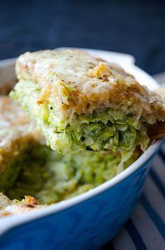 Skinny Zucchini Casserole | giverecipe.com | #zucchini #casserole #vegetarian…