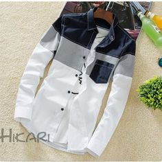 2018 Spring New Casual Contrast Color Denim Shirt Men Long Sleeve Slim Fit Good Quality Camiseta Manga Larga Algodon Hombre. Boys Shirt And Pant, Denim Shirt Men, Stylish Shirts, Casual Shirts For Men, Man Dress Design, Gents Shirts, Boys Kurta Design, Kids Wear Boys, Mens Designer Shirts