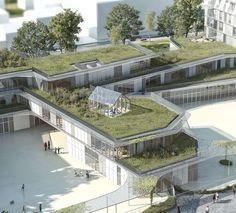 Galeria de 1° Lugar - Projeto de Escola Primária e Residência Estudantil…