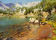 Crystalline Waters -- Original Oil Painting by Steve Henderson Oil ~ 12 x 16