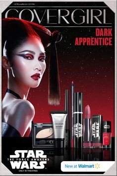 """Click here for the Dark Apprentice look from COVERGIRL® and Walmart – just one of 7 made for """"Star Wars: The Force Awakens""""! Now available at Walmart or online at CoverGirlStarWars.com! #StarWarsLook"""