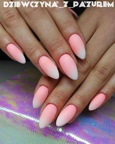 Ombre nails: Sugarmama, Bahama Mama & Sugar Effect by Sabina Rzucidło, Indigo Young Team #nails #nail #nailsart #indigonails #indigo #hotnails #summernails #springnails #omgnails #amazingnails #gelpolish #ombre #ombrenails #pastel #pastelnails #babyboomer