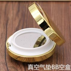 18.99$  Watch now - http://alis52.shopchina.info/go.php?t=32748694200 - free shipping 2pcs/lot golden air cushion foundation empty case BB cream puff empty box packing calm makeup bottles  #aliexpresschina