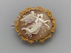 Brooch (cameo)  Italian, mid-19th century  DIMENSIONS:5 x 6.3 x 1.7 cm (1 15/16 x 2 1/2 x 11/16 in.)  MEDIUM OR TECHNIQUE: Gold filigree and shell  Museum of Fine Arts, Boston