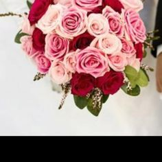 Red, white, and pink bouquet!