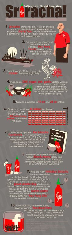 10 Things you need to know about sriracha infographic