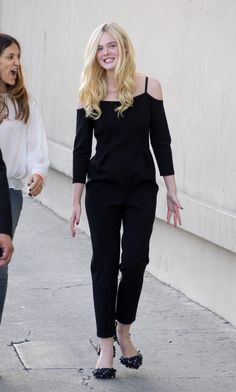 In all black out in L.A.   - ELLE.com