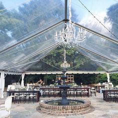 Long tables, large chandeliers, and color table runners. What could be better?…