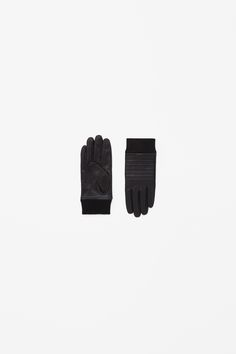 Stitch-front leather gloves