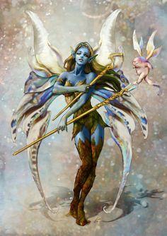 Illustration Art Fantasy Fairy Tales Beautiful Ideas For 2019 Magical Creatures, Fantasy Creatures, Elfen Fantasy, Costume Carnaval, Fairy Pictures, Blue Fairy, Beautiful Fairies, Fairy Art, Fantasy Artwork