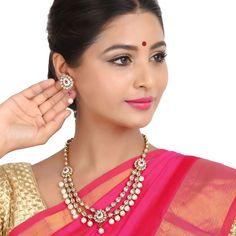 Antique Necklace 36418 #Kushals #Jewellery #Fashion #Indian #Jewellery #Necklace #Earrings #Designer #Fashion #choker #chain #Antique #Bridal #Festive #wedding
