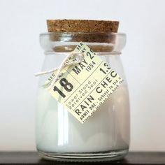 Vanilla Pear Organic Soy Wax Candle in Glass Jar with Cork Lid (Chose your scent/other scents available)