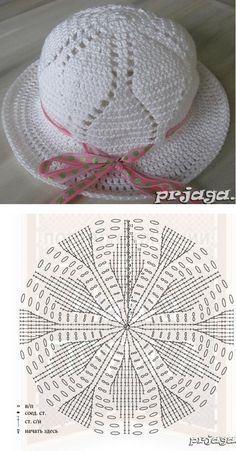Knitting patterns beanie children Ideas for 2019 Crochet Beret Pattern, Crochet Baby Bonnet, Crochet Cap, Crochet Stitches, Knitting Patterns, Crochet Patterns, Crochet Summer Hats, Crochet Girls, Sombrero A Crochet