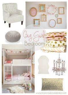 One Room Challenge {Week One}: Eclectic Big Girl Bedroom - Love Create Celebrate