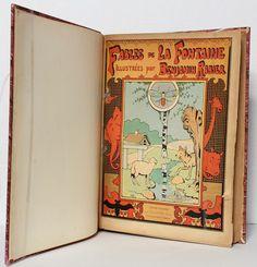 Une belle édition des Fables de La Fontaine magnifiquement illustrée avec des dessins de Benjamin Rabier.