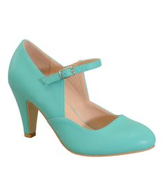 Love this Chase & Chloe Sea Green Kimmy Mary Jane by Chase & Chloe on #zulily! #zulilyfinds