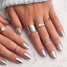 Fashion Sexy New Metallics Nail Polish Mirror Nail Polish For Women Girl As Makeup Tool Steel Grey